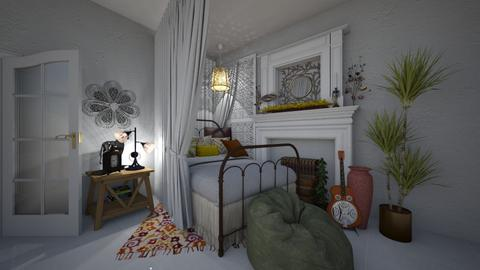 Boho Bedroom - Bedroom - by ElleP