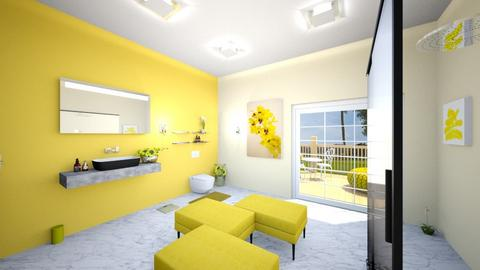 Yellow Bathroom - Bathroom - by Black Dahlia Interiors