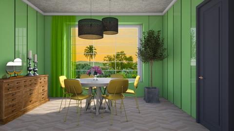 Green And Gold - Modern - Dining room - by 3rdfloor