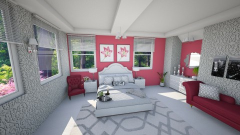 Bedroom 1 - Feminine - Bedroom - by yarah