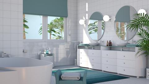 At the Beach Bath - Bathroom - by GraceKathryn