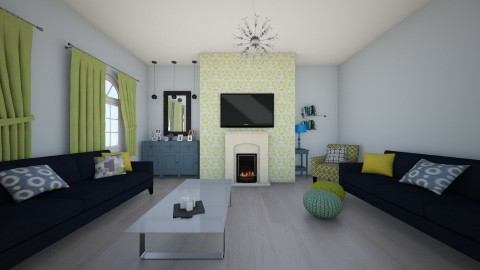 blue and green - Living room - by famasamusa