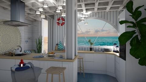 Nautical kitchen - Kitchen - by sillvie