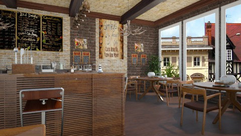 cozy cafe  - Modern - by Ernest Mistiaen