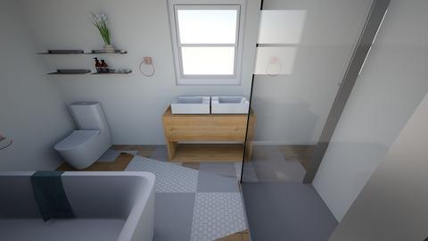 Mstr Bath 1 - Bathroom - by durkadur26