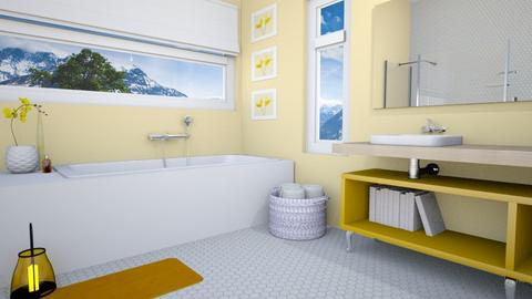 Yellow Bathroom - Bathroom - by fashionistafalida