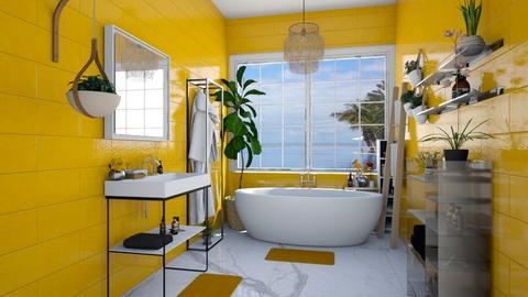 master bath yellow - Bathroom - by Ritix