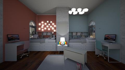 twins room - Bedroom - by joja12345678910