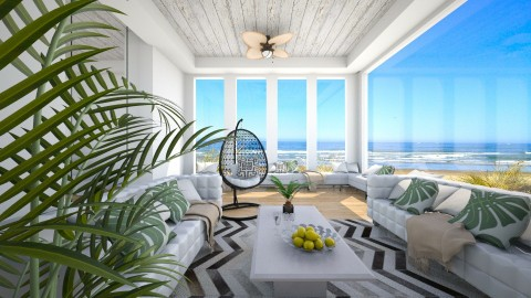 Fairlight's Beach House - Modern - Living room - by bgref