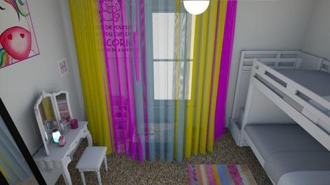 Girls Room From Above - Kids room - by Tzed Design