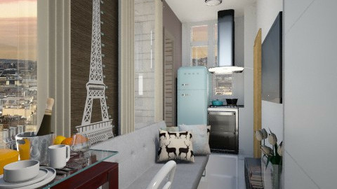 Paris Tiny Room  8m2 - Minimal - by ayudewi