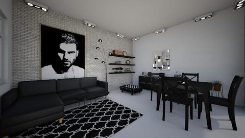 pokoj dla faceta  - Classic - Living room - by DERRYS