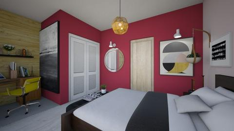 red bedroom - Modern - Bedroom - by Jacqueline De la Guia