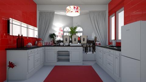 red kic - Modern - Kitchen - by nat mi