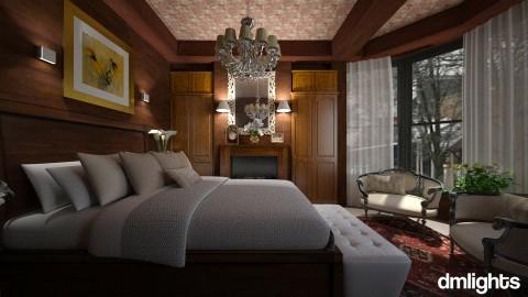 Quarto madeira - Bedroom - by DMLights-user-971864