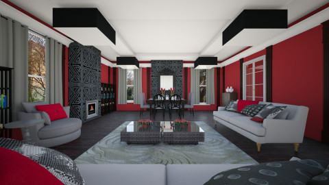redgrey - Living room - by Elvira  Elvira