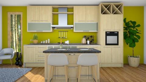 colorful kitchen - Vintage - Kitchen - by jjannnii