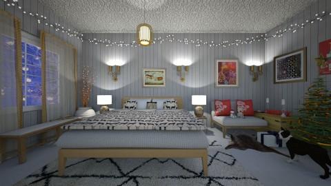 Christmas reindeer - Classic - Bedroom - by Tara T