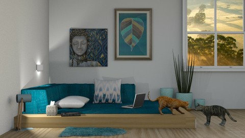 Blue Zen - by DeborahArmelin