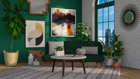 Green Living - Living room - by Brianna_322