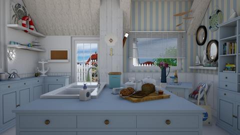 nautical kitchen - Modern - Kitchen - by donella