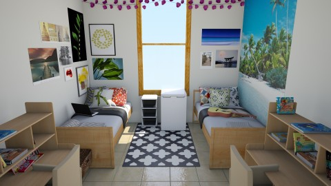 dorm room - Bedroom - by theresarosebaldwin