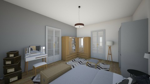 BlackAndWhite - Modern - Bedroom - by Andrea_