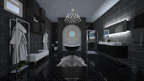 Dark bathroom - Bathroom - by UloveTashi Designs