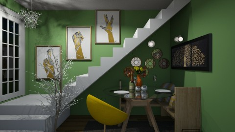 under the stairs - Minimal - Dining room - by agargidp