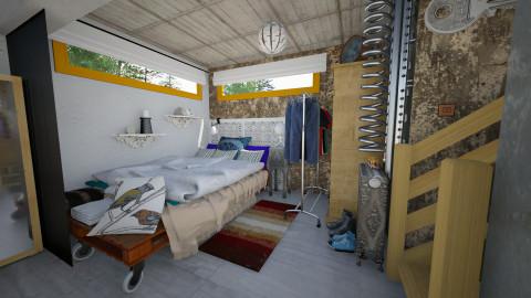 Basement Bedroom - Eclectic - Bedroom - by evahassing