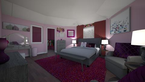 floral bedroom - Bedroom - by PenAndPaper