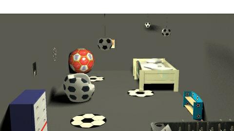 Football bedroom - Bedroom - by jenny_