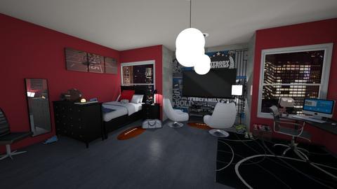 teen bedroom - Bedroom - by martinal2