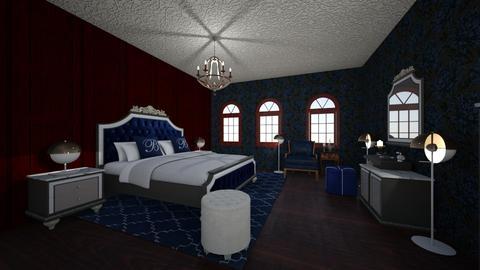 Royal Blue - Bedroom - by PeculiarLeah