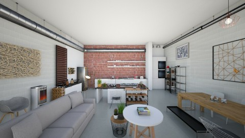 Loft - Kitchen - by RaquelG
