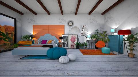Bohemian Bedroom - Bedroom - by boguwitko