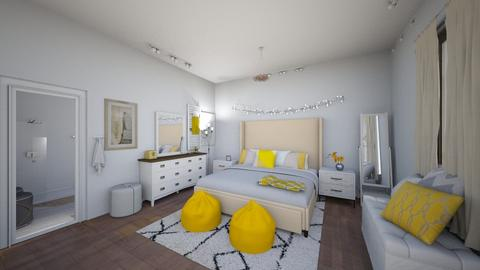 Yellow Interior Bedroom - by maddiedelong333