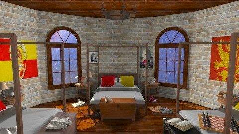 Gryffindor Dormitory - Classic - Bedroom - by HGranger2