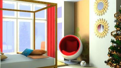 christmas retro bedroom - Retro - Bedroom - by pia