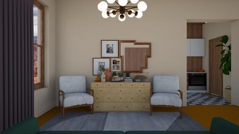Orange Carpet - Living room - by rosej