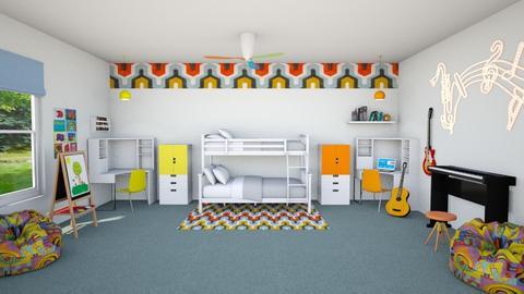 Bunk Mates - Kids room - by Tzed Design
