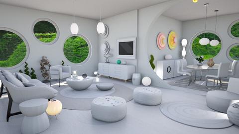 mariko mori white_crystal - Living room - by Moonpearl