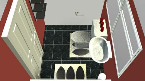 Oriental Red Bathroom - Bathroom - by sl_gamble01