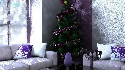 purple christmas room - by sl_gamble01