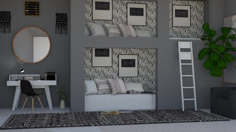 beds - Modern - Bedroom - by NEVERQUITDESIGNIT