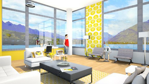 Yellow White - Living room - by Astriid Ramos