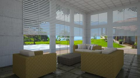 Living e Piscina - Minimal - Living room - by Mariesse Paim