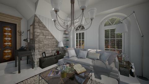 Santon Downham - Living room - by MoriartyIOU