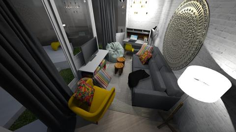 Yellow Chair Living - Living room - by DecoMaster5