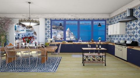 Greek Family Kitchen - Kitchen - by lovedsign